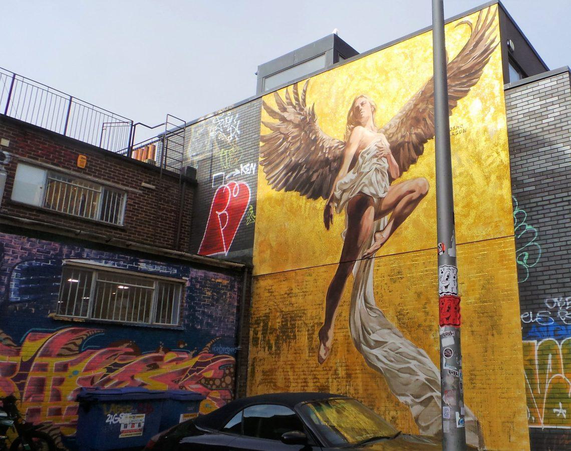 Cosmo Sarson's Angel Mural in Brighton
