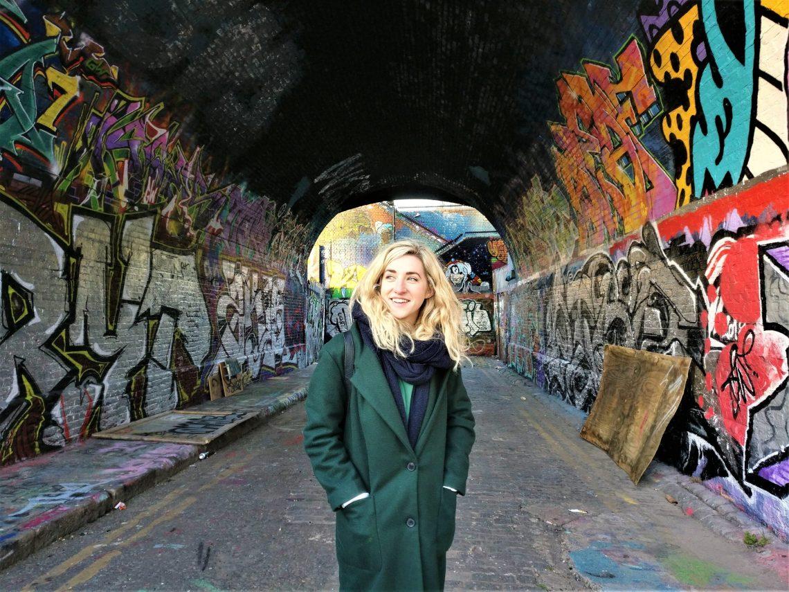 Artist Frankie Strand in East London