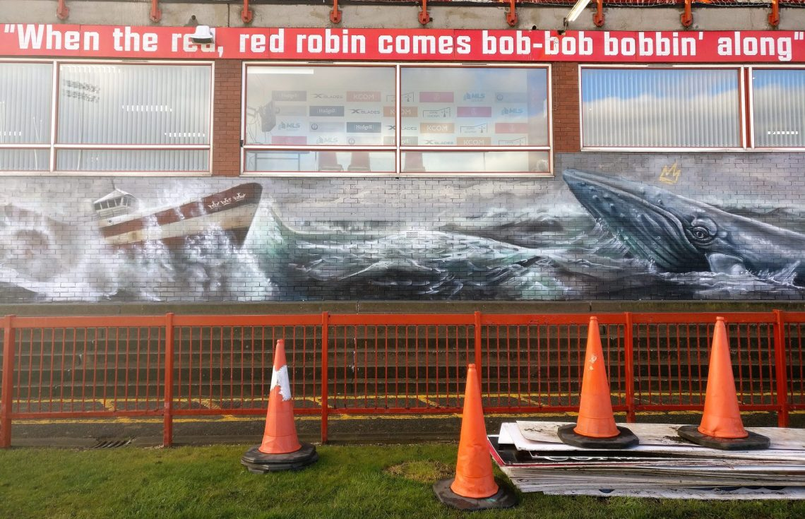 Mural in Craven Park by the Nomad Clan