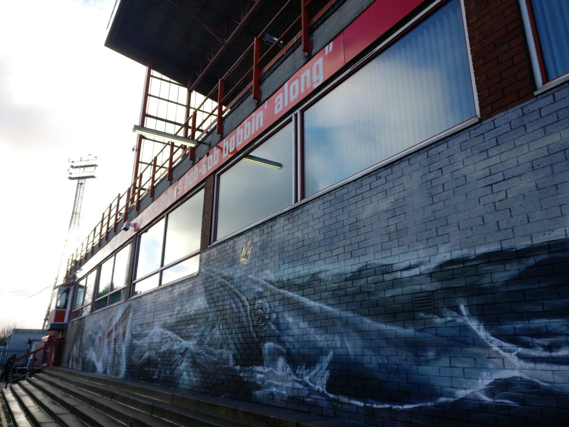 A giant whale mural in Craven Park, Hull. Painted by the Nomad Clan