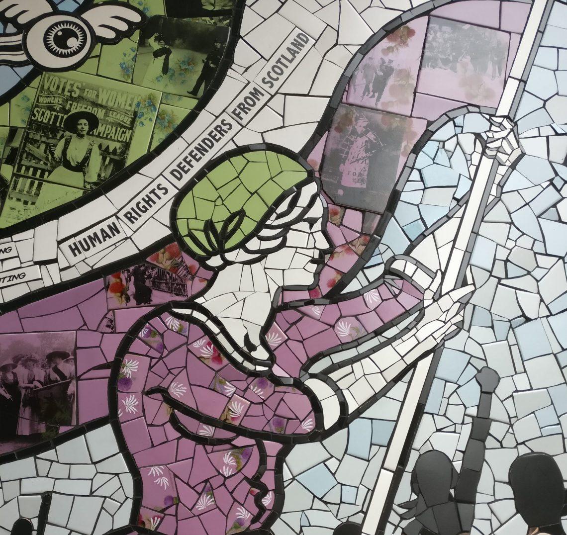 suffragette spirit  a mural bycarrie reichardt for nuart aberdeen 2018