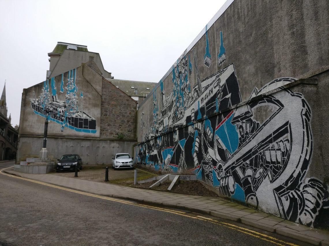 M City street art in Aberdeen