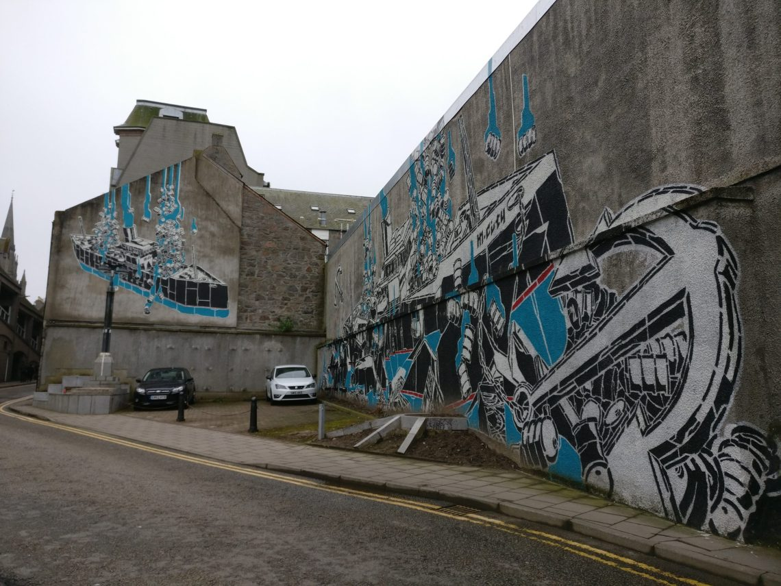 M City street art in Aberdeen