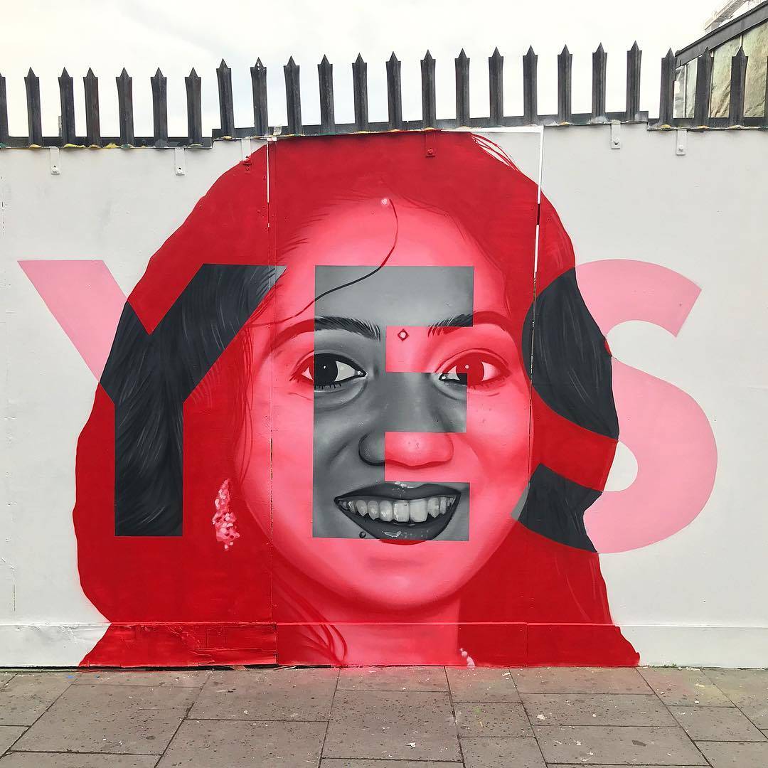 Mural of Savita Halappanava by Aches