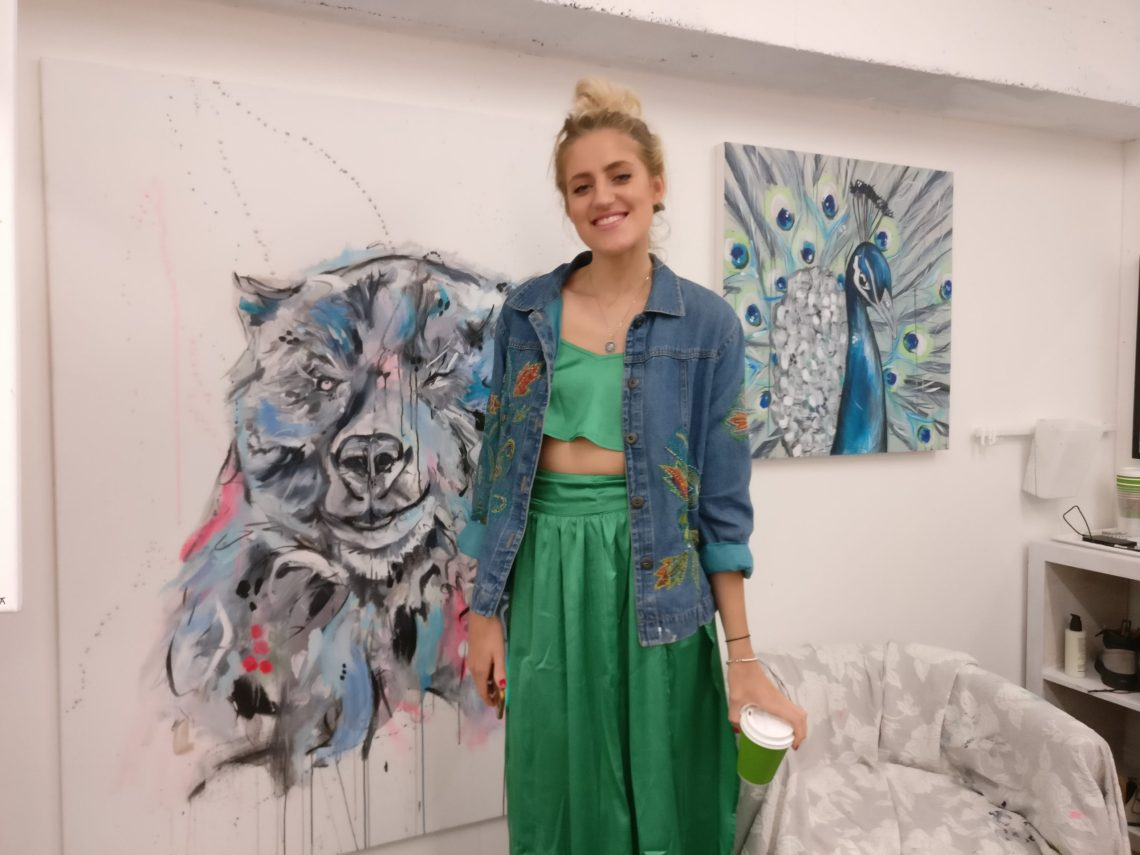 Artist Sophie Tea in the Wimbledon Art Studios