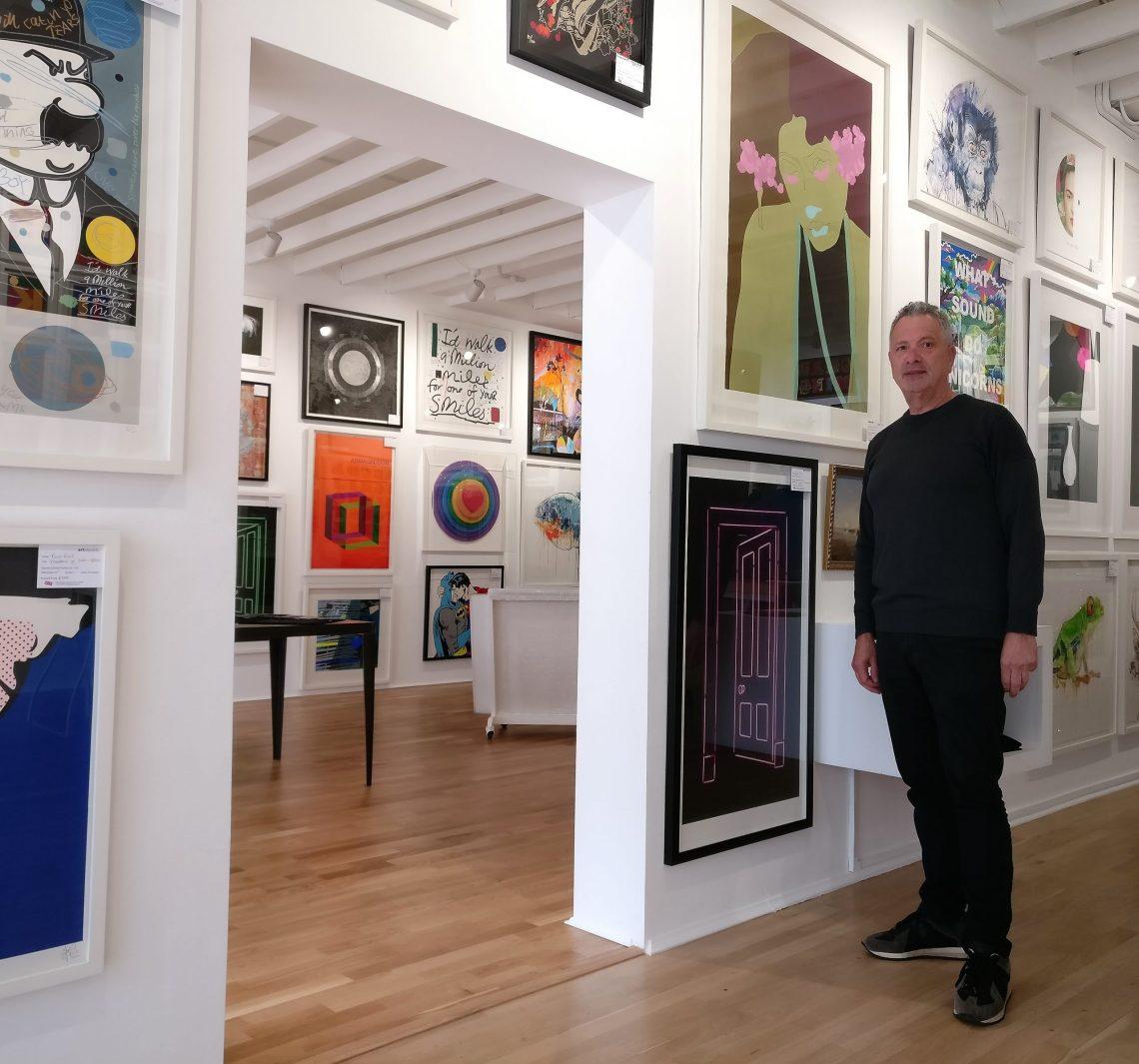 lawrence alkin inside the Art Republic Gallery
