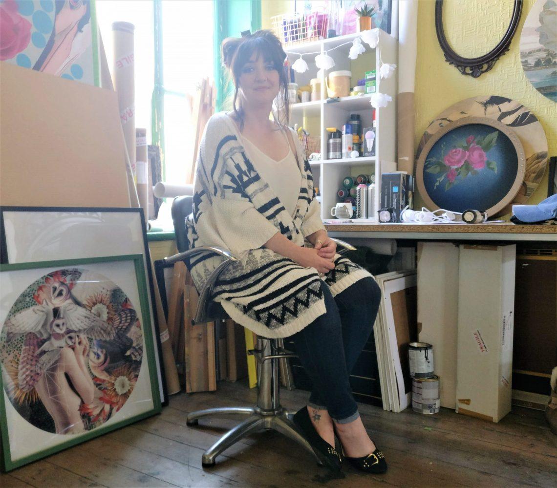 Alexandra Gallagher in her artist studio