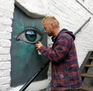 My Dog Sighs adding a cheeky little additional piece in the courtyard of the 2 Pigs
