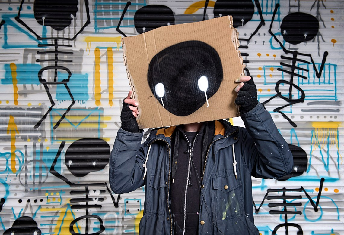 Nika Kramer skeleton cardboard