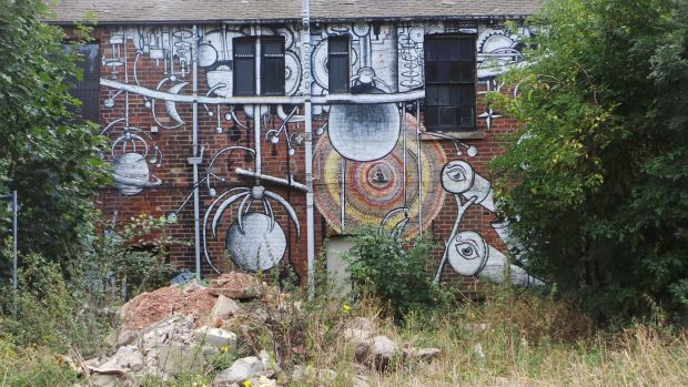 sheffield street art phlegm