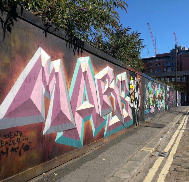 Graffiti from MARS on Brownell Street
