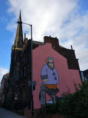 Work from Sheffield's Pete McKee on Carver Street