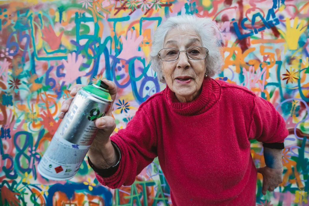 Graffiti Grannies at the Nuart festival in Aberdeen