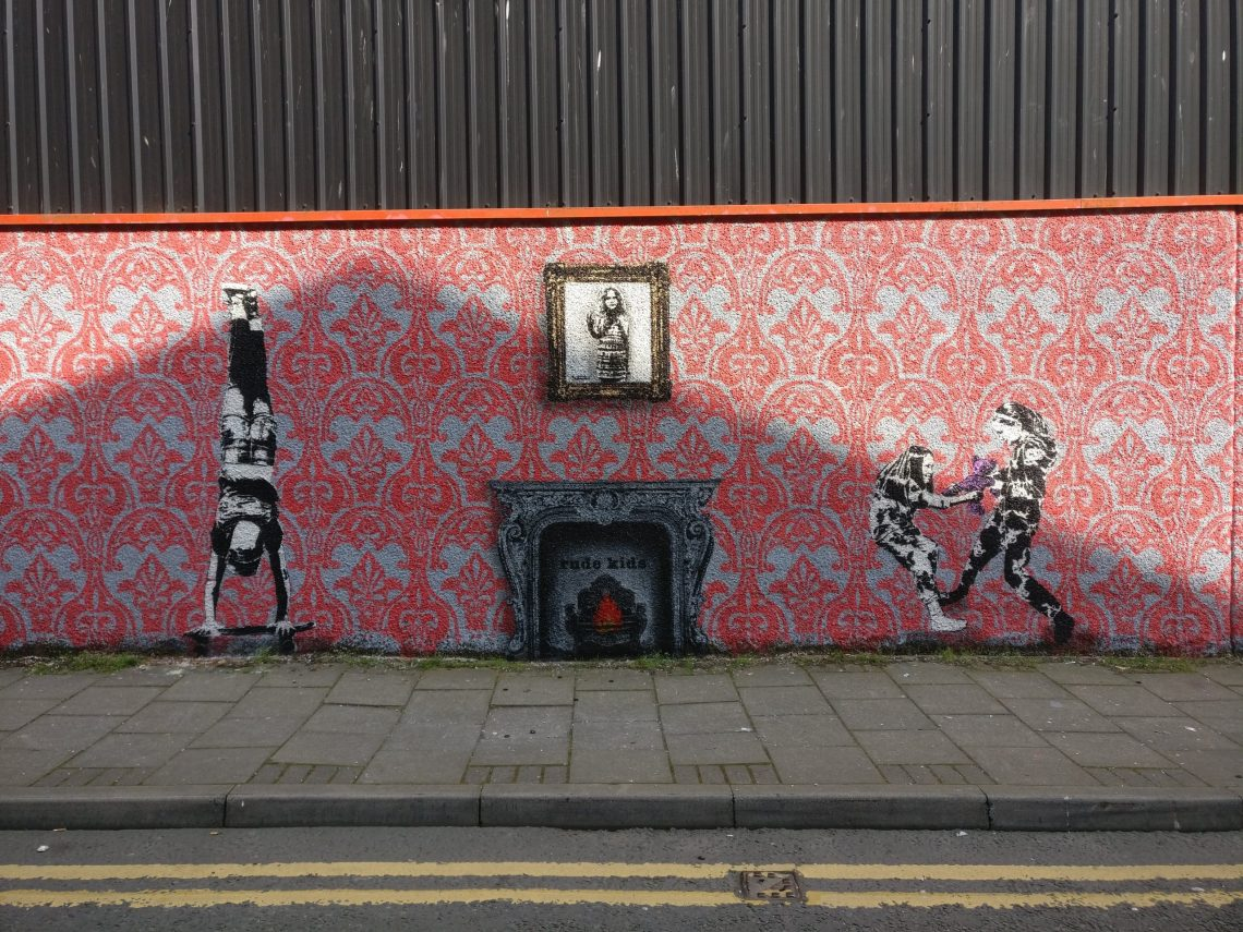 Rude Kids mural by Dotmasters on Jopps Lane for Nuart Aberdeen 2019
