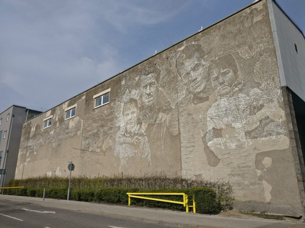 Mural by Vhils for Nuart Aberdeen 2019