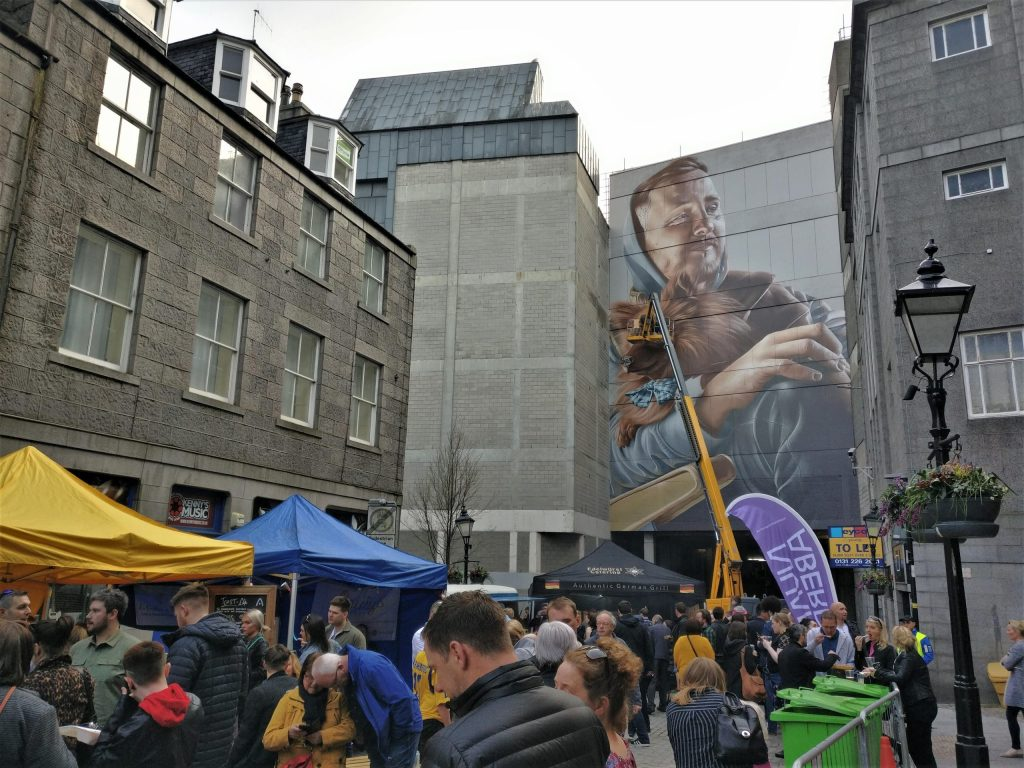 Mural by SMUG on the Green for Nuart Aberdeen 2019