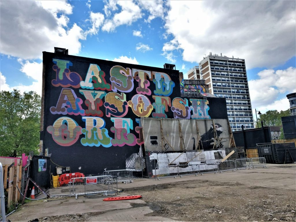 The Foundry building in Shoreditch revealing the hidden Banksy murals