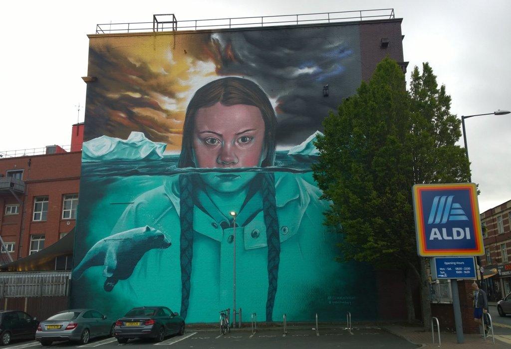 The Greta Thunberg mural in Bristol
