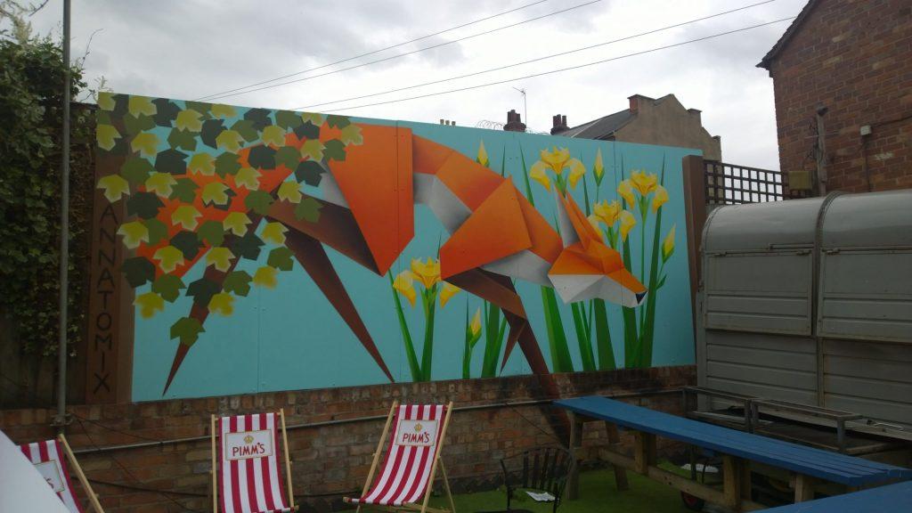 Street art fox by annatomix in Digbeth