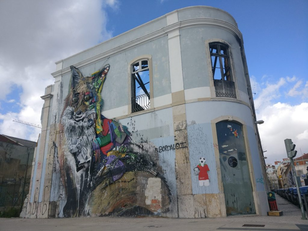 Street Art in Lisbon from Bordalo 2