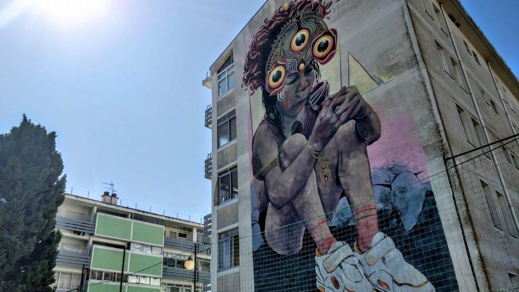 Street art from Gleo in Marvila in Lisbon