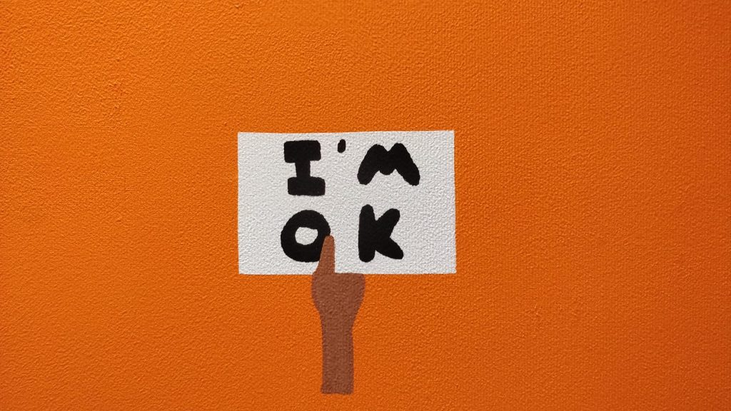 I'm Ok artwork by artist Euan Roberts