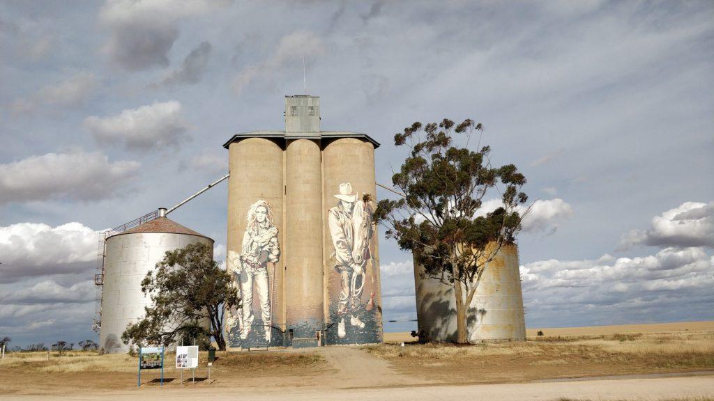 Grain Silo in Rosebery, Victoria by street artist Kaff-eine