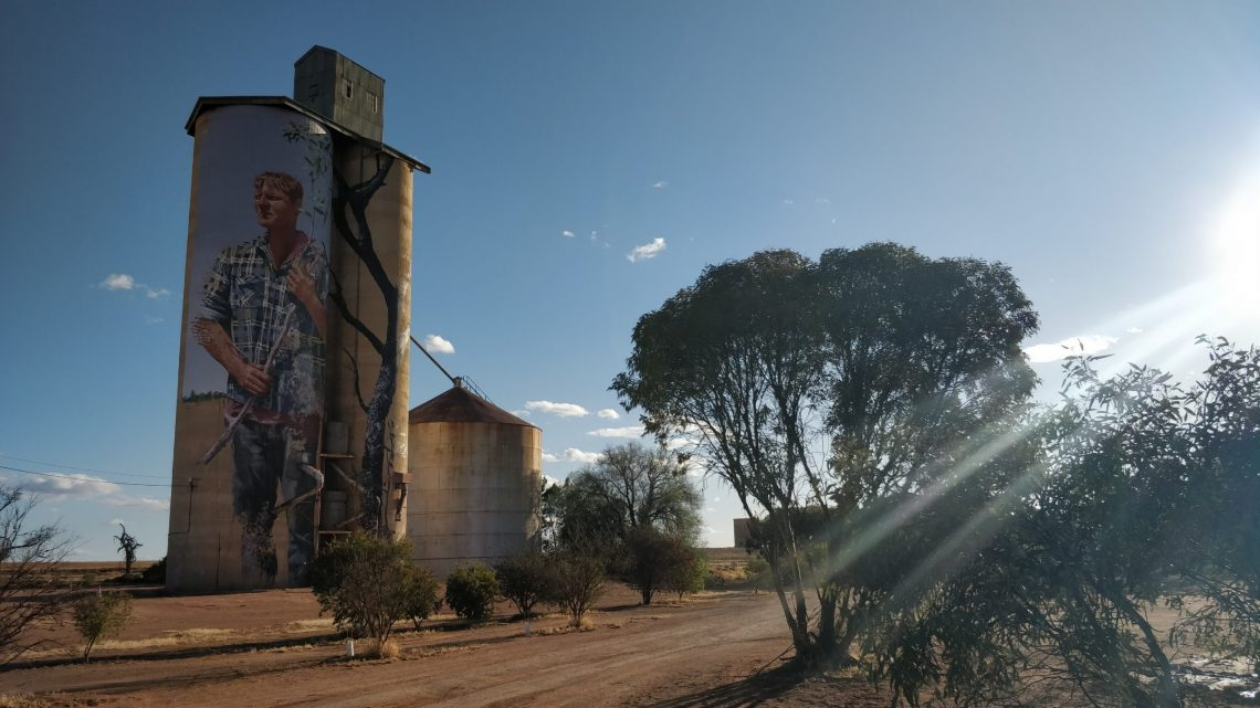 Grain Silo in Patchewollock, Victoria by street artist Fintan Magee