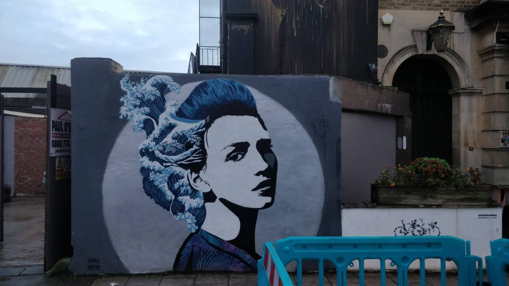 Street art by Copyright near the Hen and Chicken pub. Part of the Upfest Summer Editions