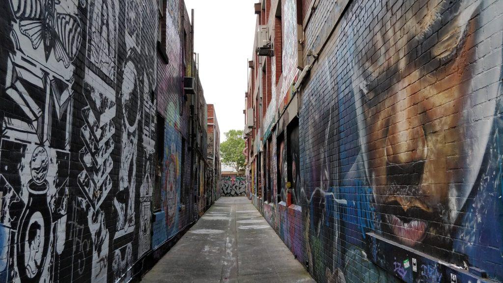 Graffiti on Blender Lane in Melbourne