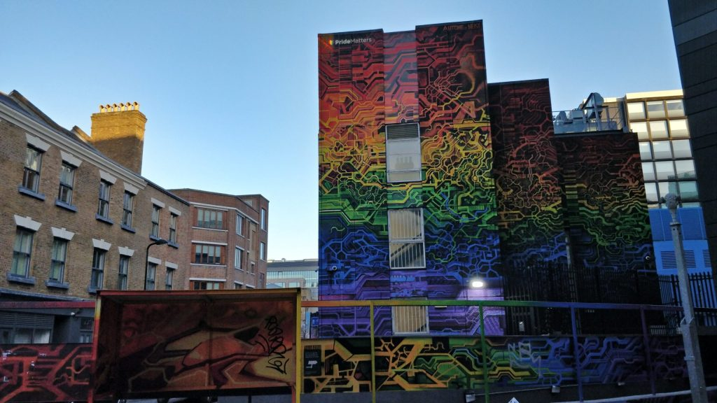 Giant street art from Autone and Neist on New Inn Yard in Shoreditch