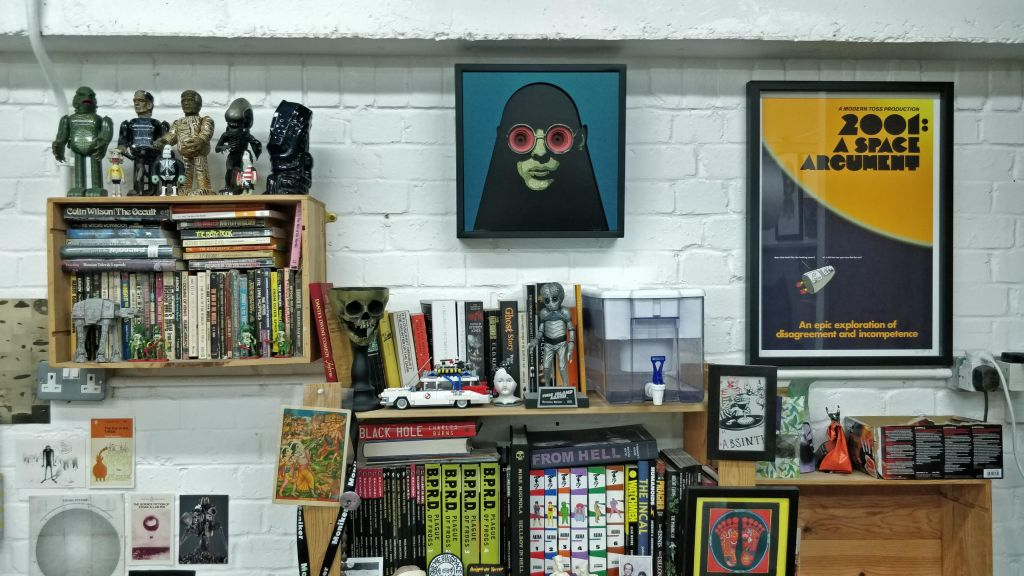 Books, posters and models in Eelus studio