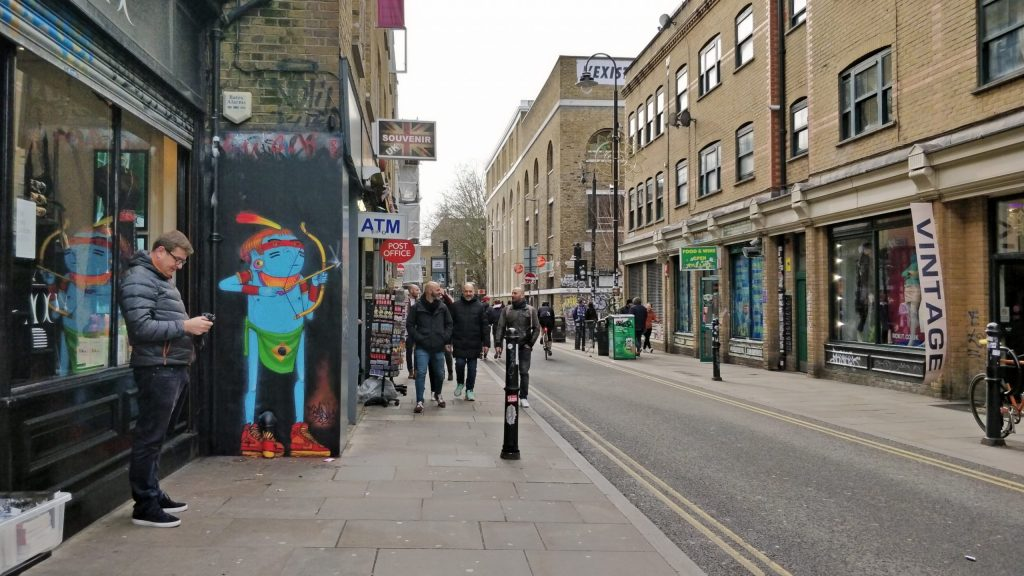Cranio street art on Brick Lane