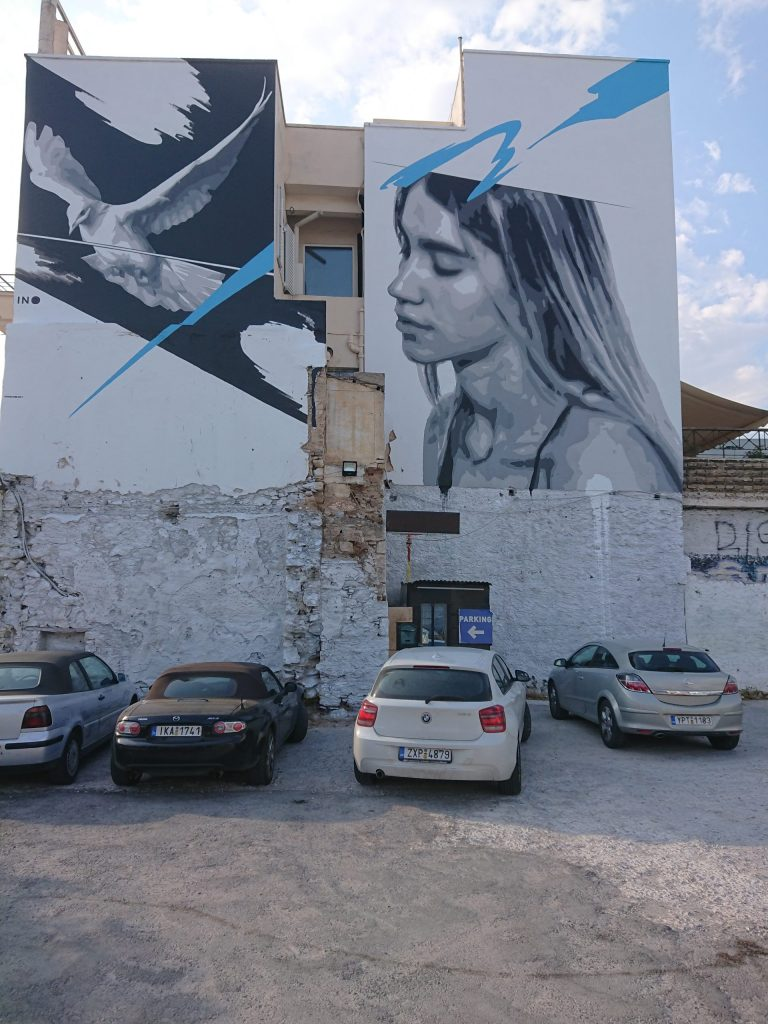 Street art by INO in Athens