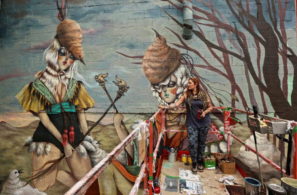 Miss Van will be painting at the Avant Garde Tudela festival in 2020