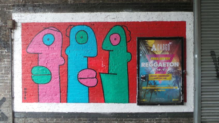 Thierry Noir street art on Rivington Street