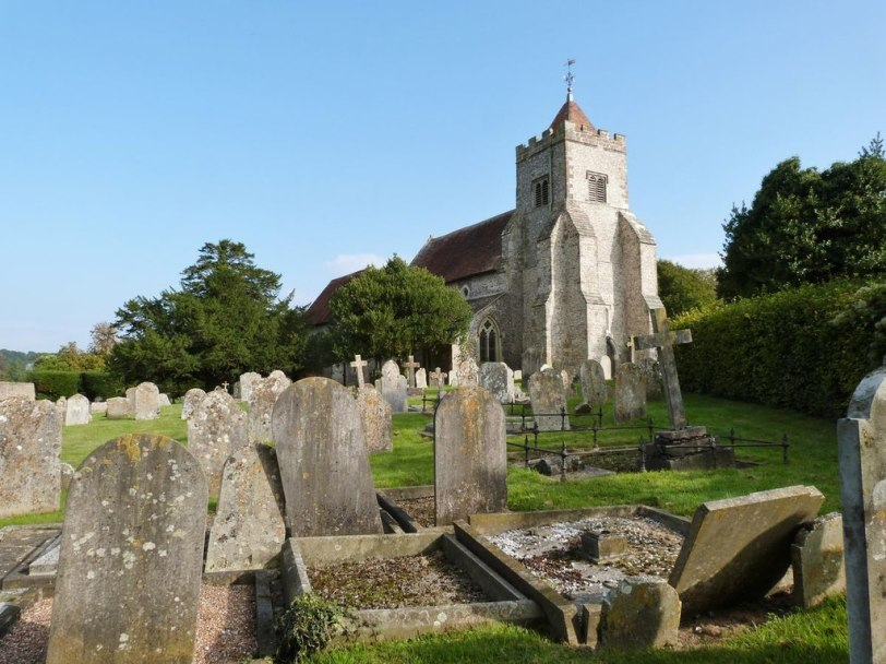 Firle Church is where Vanessa Bell and Duncan Grant are buried