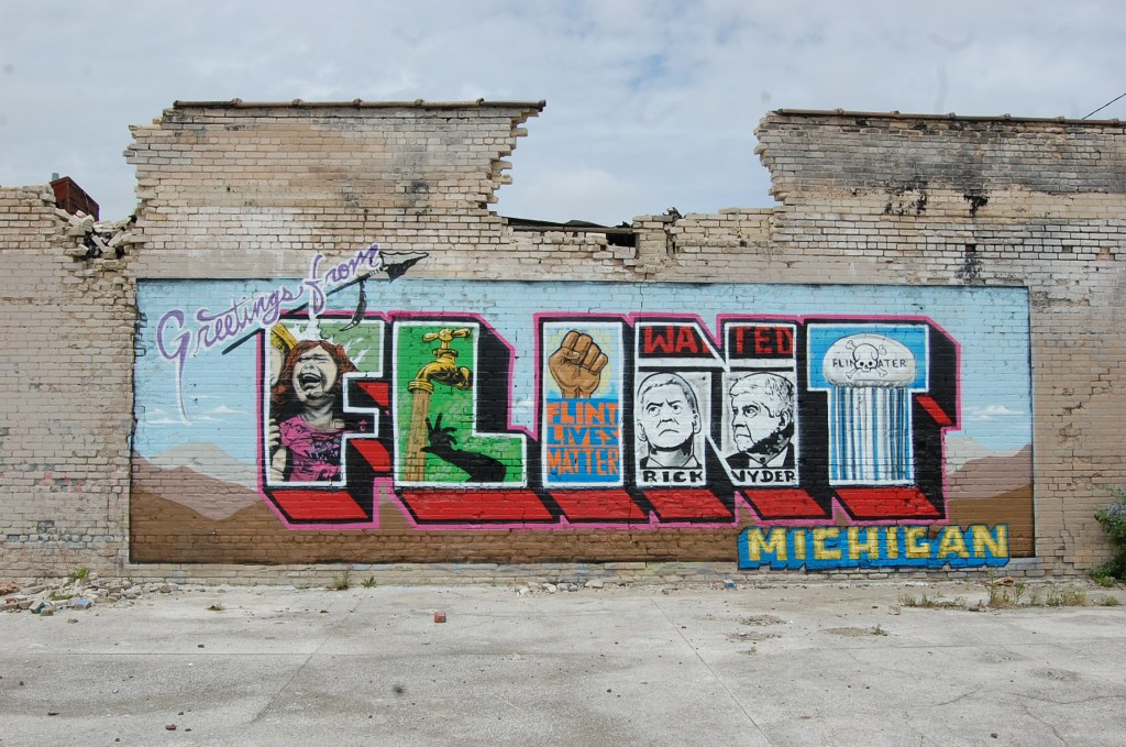 Greetings from Flint by Indecline for the Flint Public Art Project