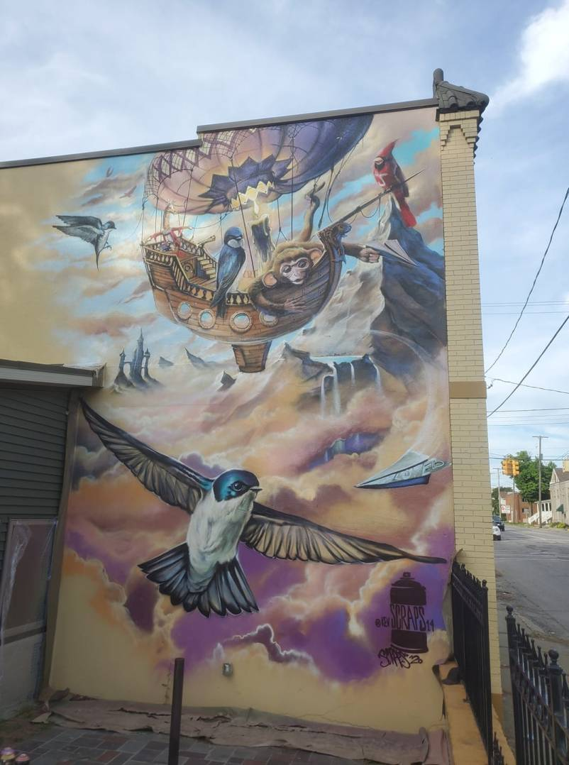 Escape mural by Kevin Burdick for the Flint Public Art Project