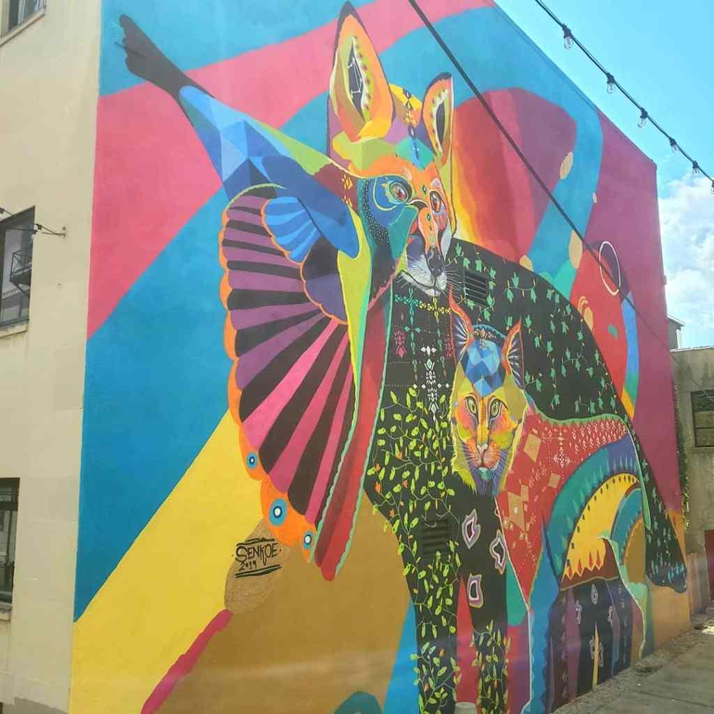 Mural by Senkoe in Flint