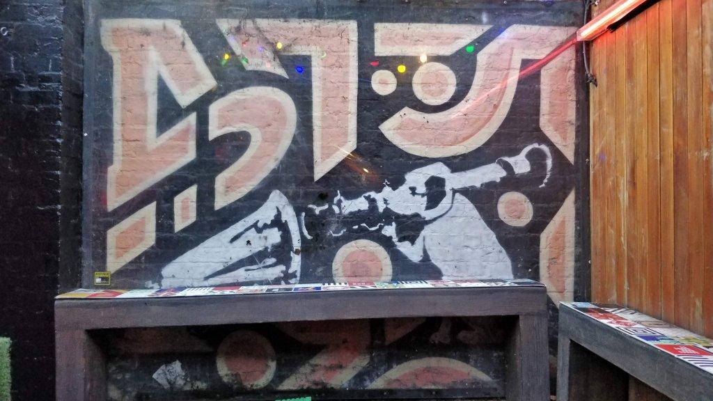 Banksy mural in Cargo on Rivington Street