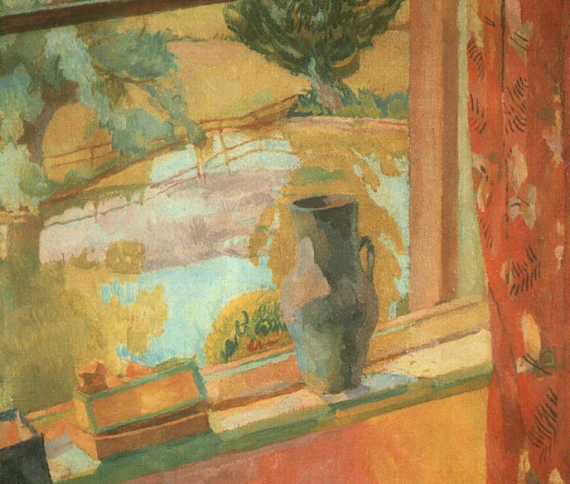 A view of the pond at Charleston is Sussex by Vanessa Bell part of the Bloomsbury Group