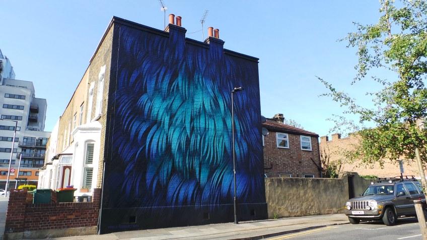 Adele Renault mural in Stratford. Part of the London Mural Festival