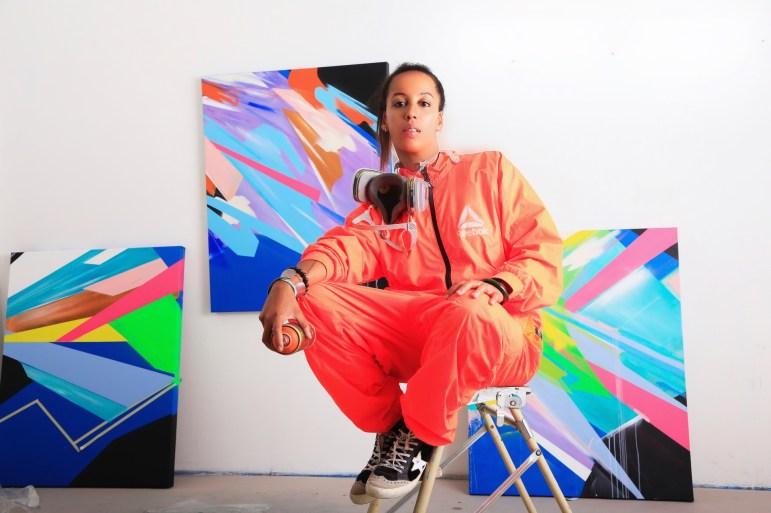 Laura Benetton portrait for Metamorphosis, her show in Milan