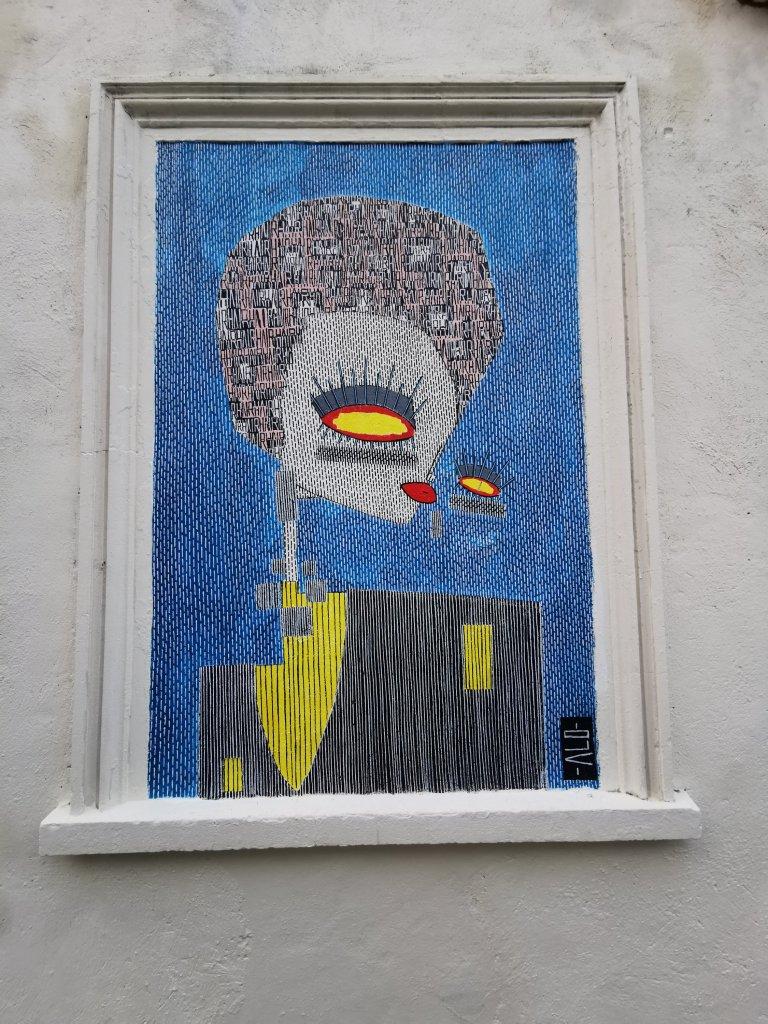 Street art by ALO on Ravenscroft Street