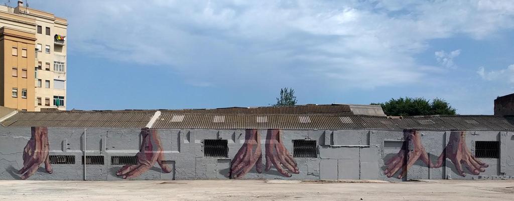 Hyuro mural in Barcelona