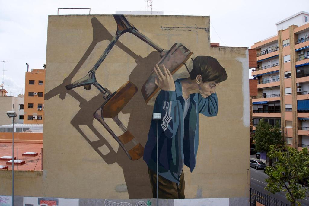 Hyuro mural in Sagunto, Spain