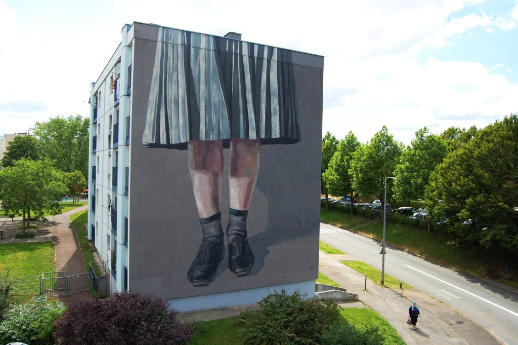 Hyuro mural in Besancon, France