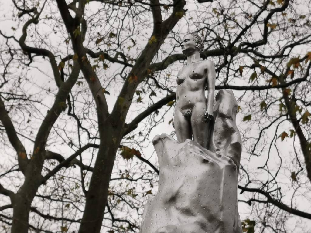 Maggi Hamblings 'A Sculpture for Mary Wollstonecraft' on Newington Green