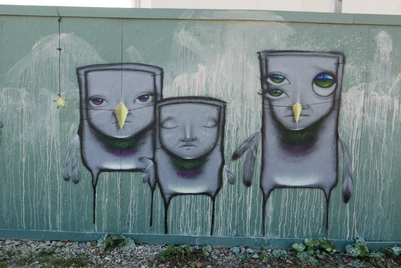 Mural by My Dog Sighs for the Cheltenham Paint Festival 2020